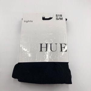 NWT Hue Tinted Metallic Black Tights Size: S/M